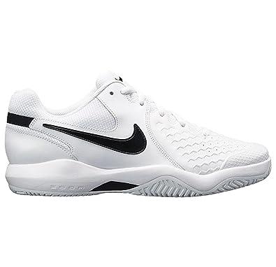 NIKE Men's Air Zoom Resistance Tennis Shoe (7.5 D US, White/Black)