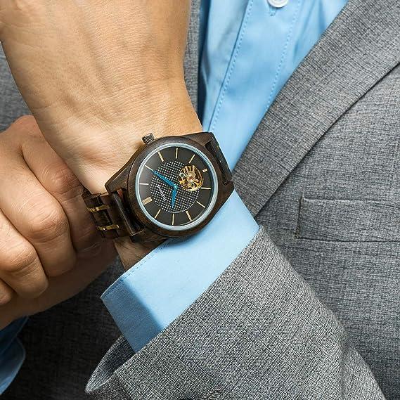 Amazon.com: TruWood Titan Zeus Wooden Watch with Black Sandalwood for Men: Watches