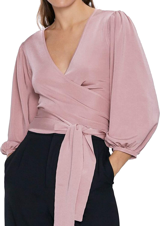 Zara 2142/126/620 - Camiseta de punto con lazo para mujer ...