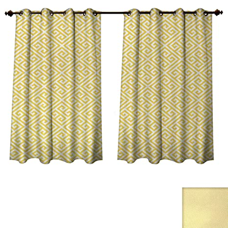 Amazon Com Anzhouqux Greek Key Blackout Curtains Panels For Bedroom