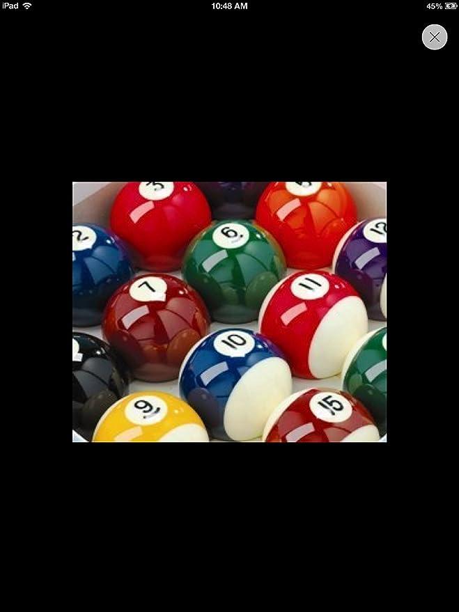 IQ Pool - Juego de bolas de billar rayadas y lisas (5 cm, incluye ...