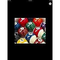 IQ Pool - Juego de bolas de billar rayadas y lisas (5 cm, incluye bola blanca)