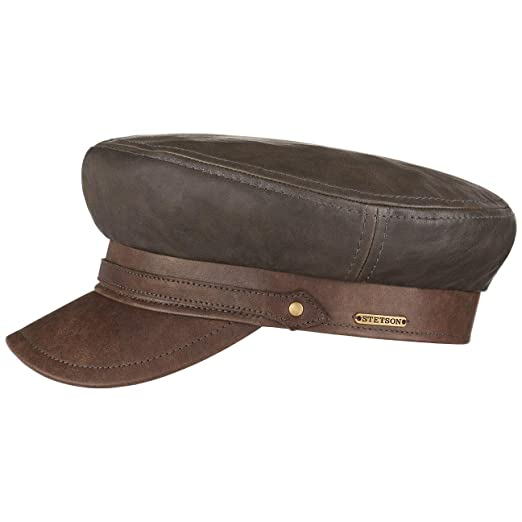 fe078fa550d22 Amazon.com  Stetson Lambskin Baker Boy Hat Women Men Grey-Brown 7 5 ...