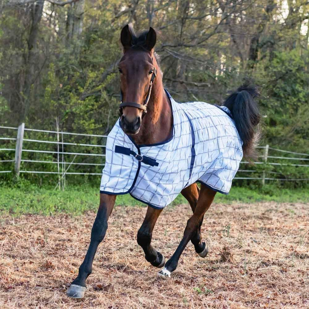 Horze Soft Mesh Fly Sheet With Leg Straps - Plaids by HORZE