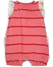 68768f9695ef5 Burt's Bees Baby - Baby Girls' Romper Jumpsuit, 100% Organic Cotton One-