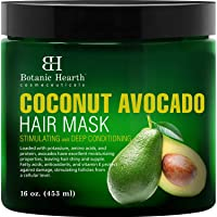 Botanic Hearth Coconut Avocado Hair Mask for Hair Growth, Deep Conditioner with...