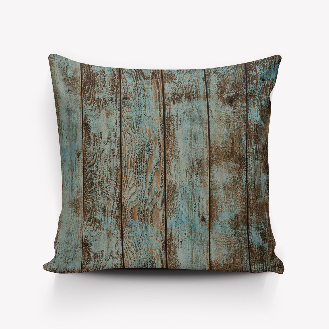 Rustic Wood Board Throw Pillow Indoor Cover Pillow Case For Home Sofa Car Office 20''x20''(Two Sides,Satin) by Rocking Giraffe (Image #1)