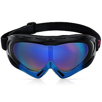 Motorradbrillen für Biker, Diealles Motorrad Goggle Sportbrille mit UV 400 Schutz Winddicht und Staubdicht zum Wandern, Radfahren, Reiten und andere Outdoor-Aktivitäten - Schwarz
