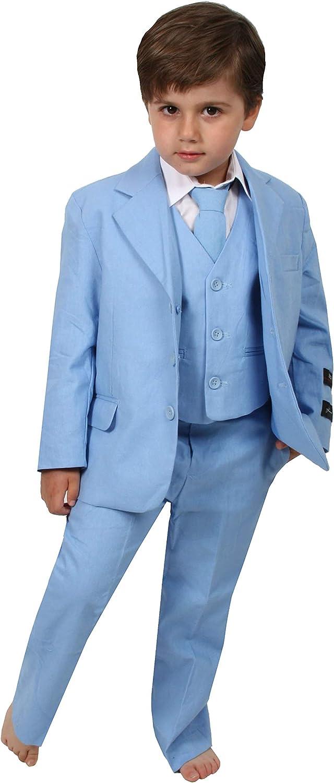 Ring bearer suit Linen boys suit Boys short suit Boys suit set Boys Christening suit Boys clothes Boys 4 pieces suit Boys vest suit
