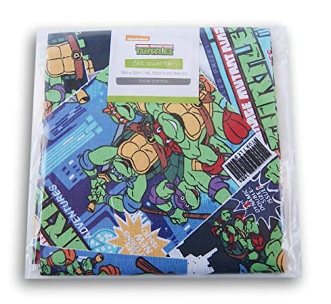 Amazon.com: Viacom Teenage Mutant Ninja Turtles Fat Quarter ...