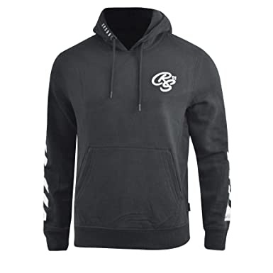 Crosshatch Mens Embroided Pullover Fleece Lined Hoodies Top