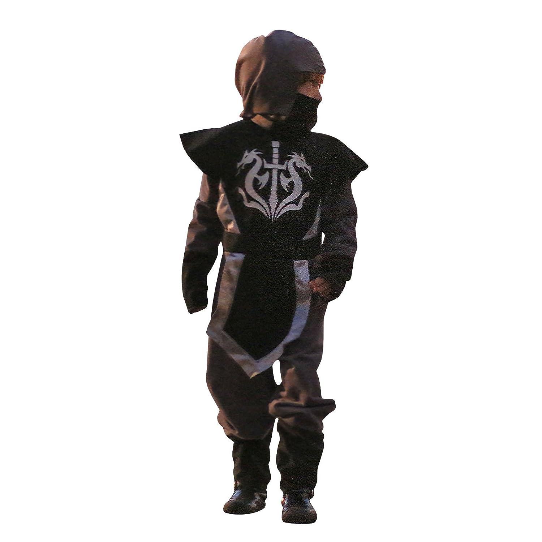 Disfraz de Ninja Kasuni gris para niño: Amazon.es: Juguetes y juegos