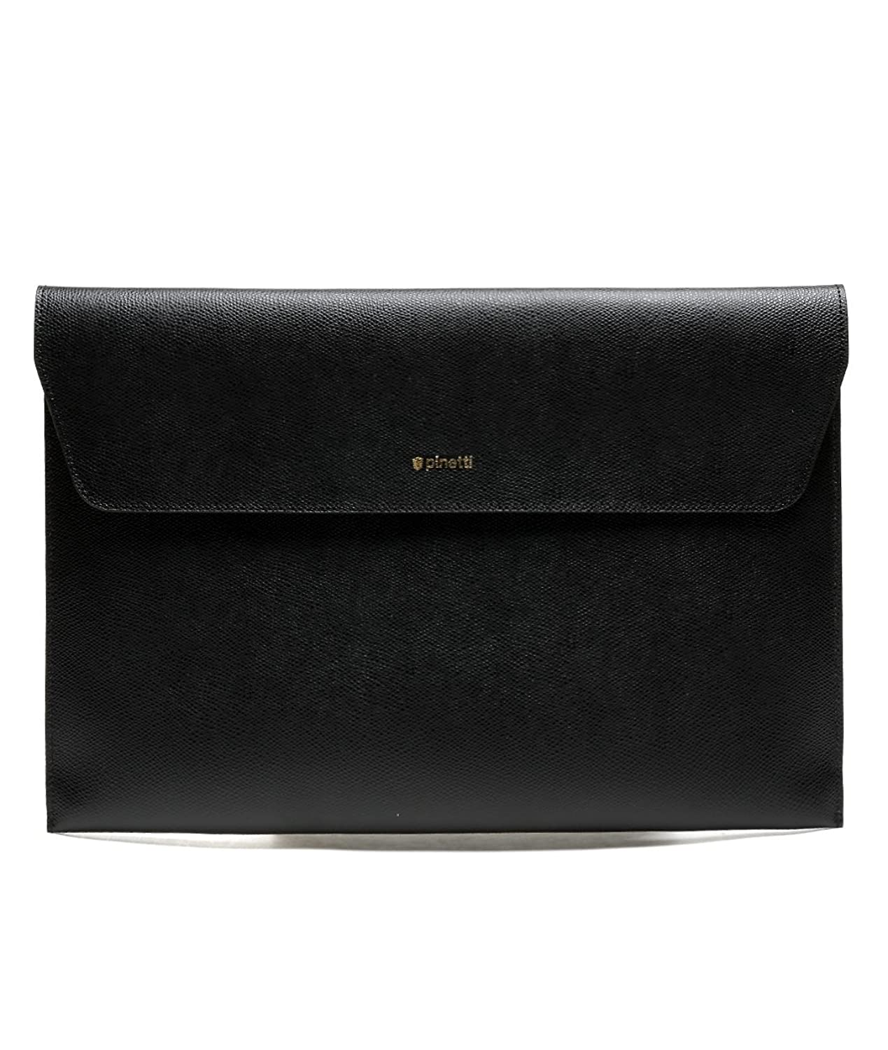 Pinetti Men's Real Leather Velcro Flap Clutch