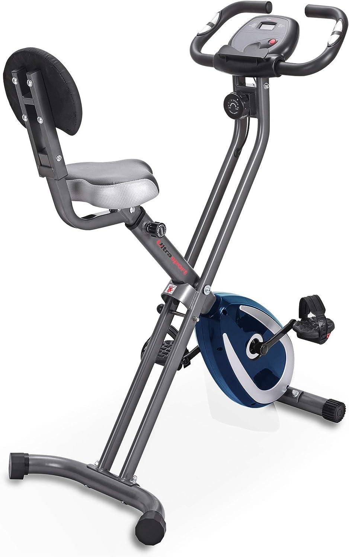 Ultrasport F-Bike 150/200B Bicicleta estática con sensores de Pulso de Mano, con/sin Respaldo, Plegable, Unisex: Amazon.es: Deportes y aire libre