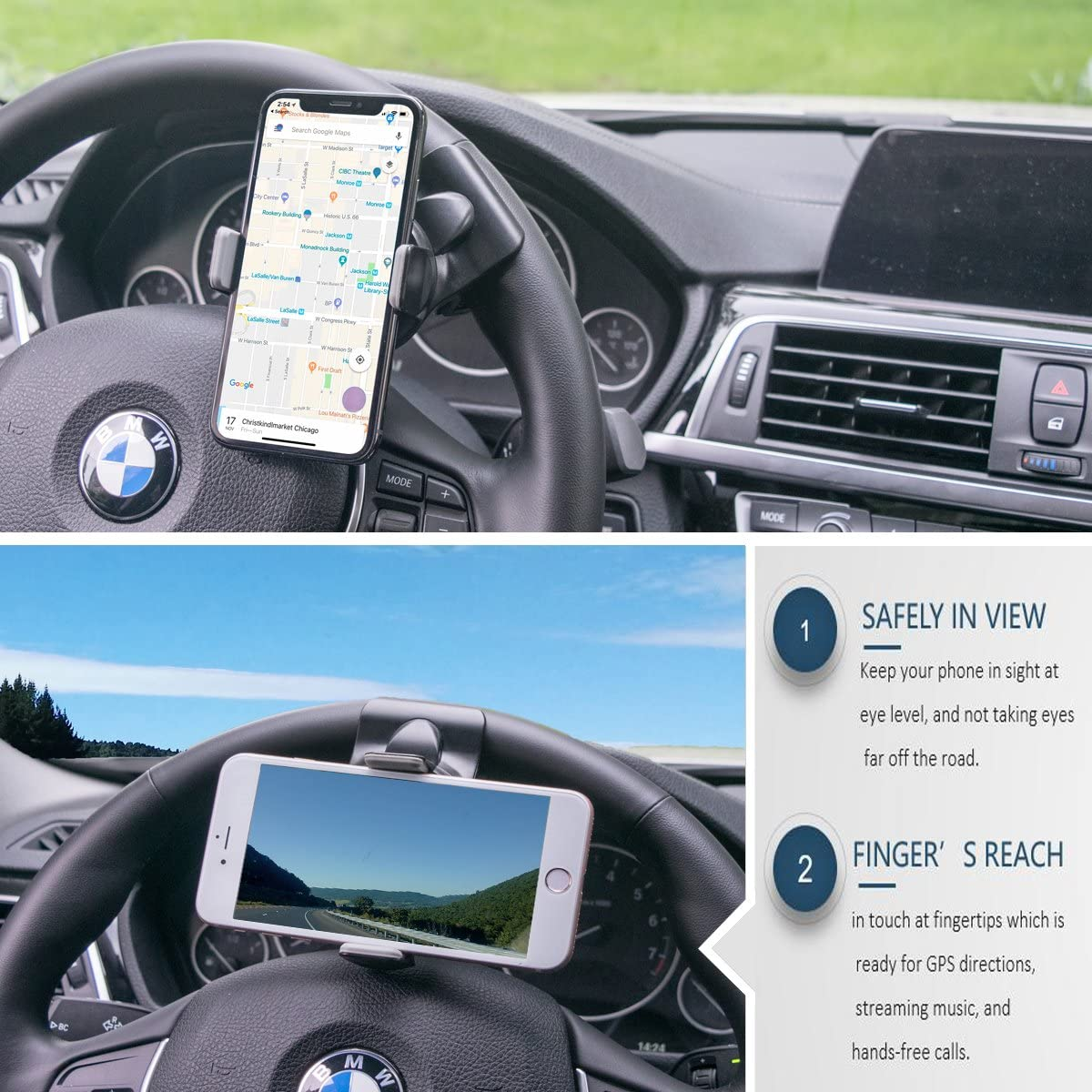 Best Steering Wheel Phone Holder For Car