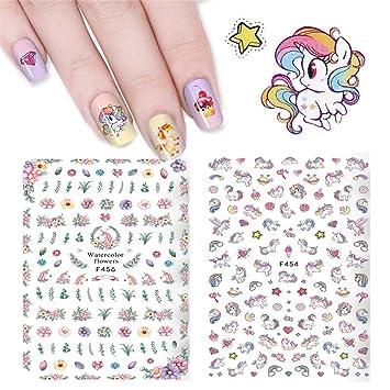 Unicorn Nail Sticker Decals Hippomee 3d Nail Art Stickers Self