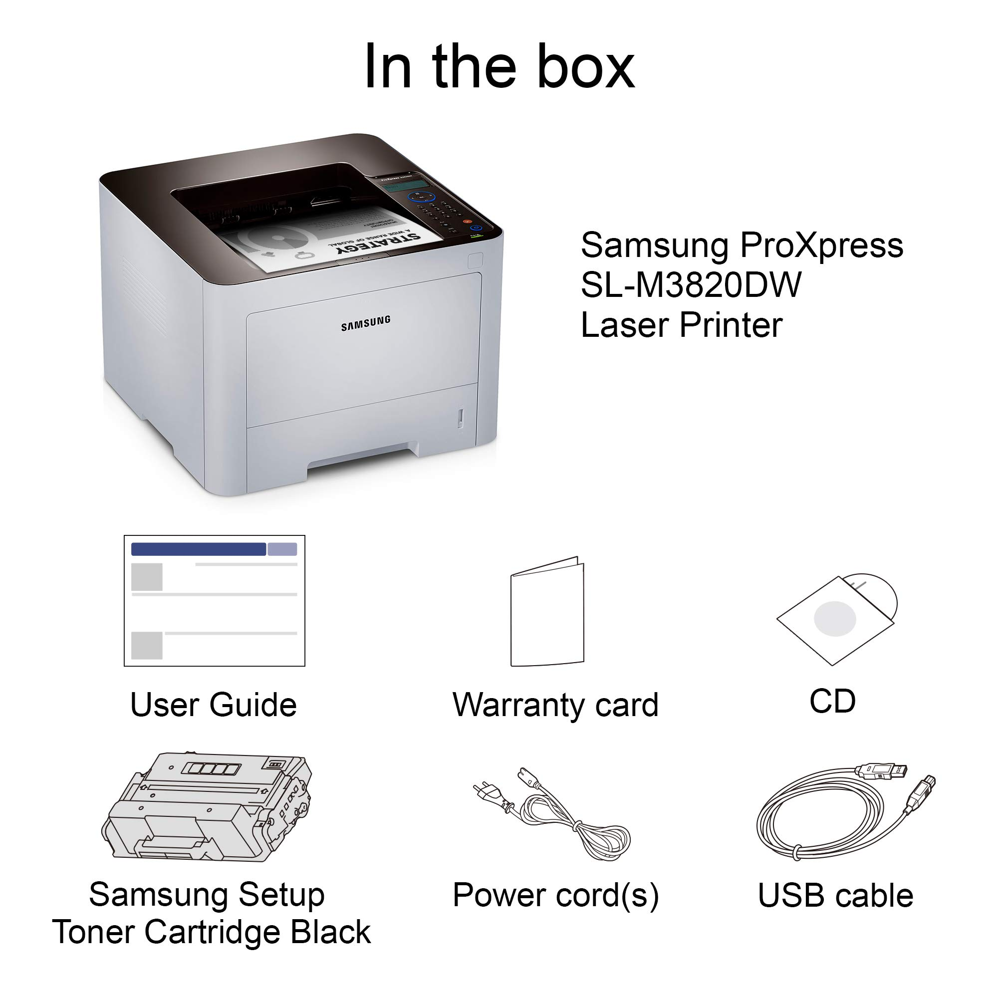 Samsung ProXpress M3820DW Wireless Monochrome Laser Printer with Mobile Connectivity, Duplex Printing, Print Security & Management Tools, Amazon Dash Replenishment Enabled (SS372C) by HP (Image #4)