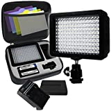 LimoStudio 160 LED Video Light Lamp Panel Dimmable for DSLR Camera DV Camcorder, AGG1318