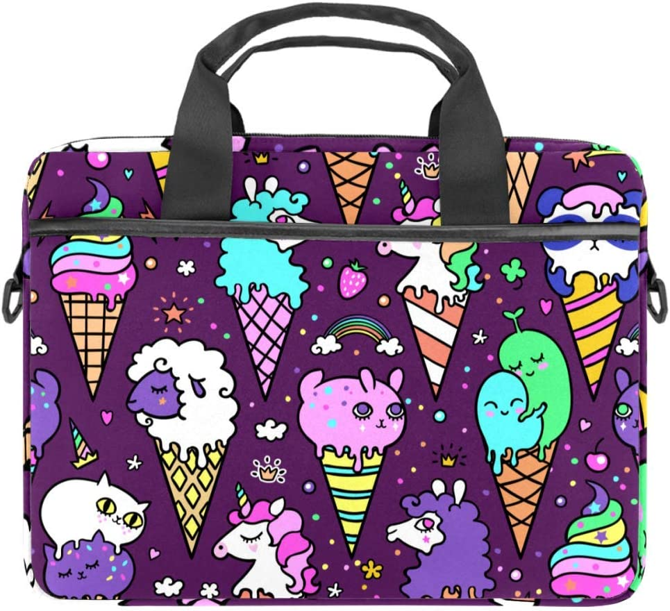Ice Cream Unicorn Laptop Computer and Tablet Shoulder Bag