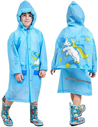 Children Cartoon Rain Coat Kids Rainwear Waterproof Schoolbag Raincoat Poncho