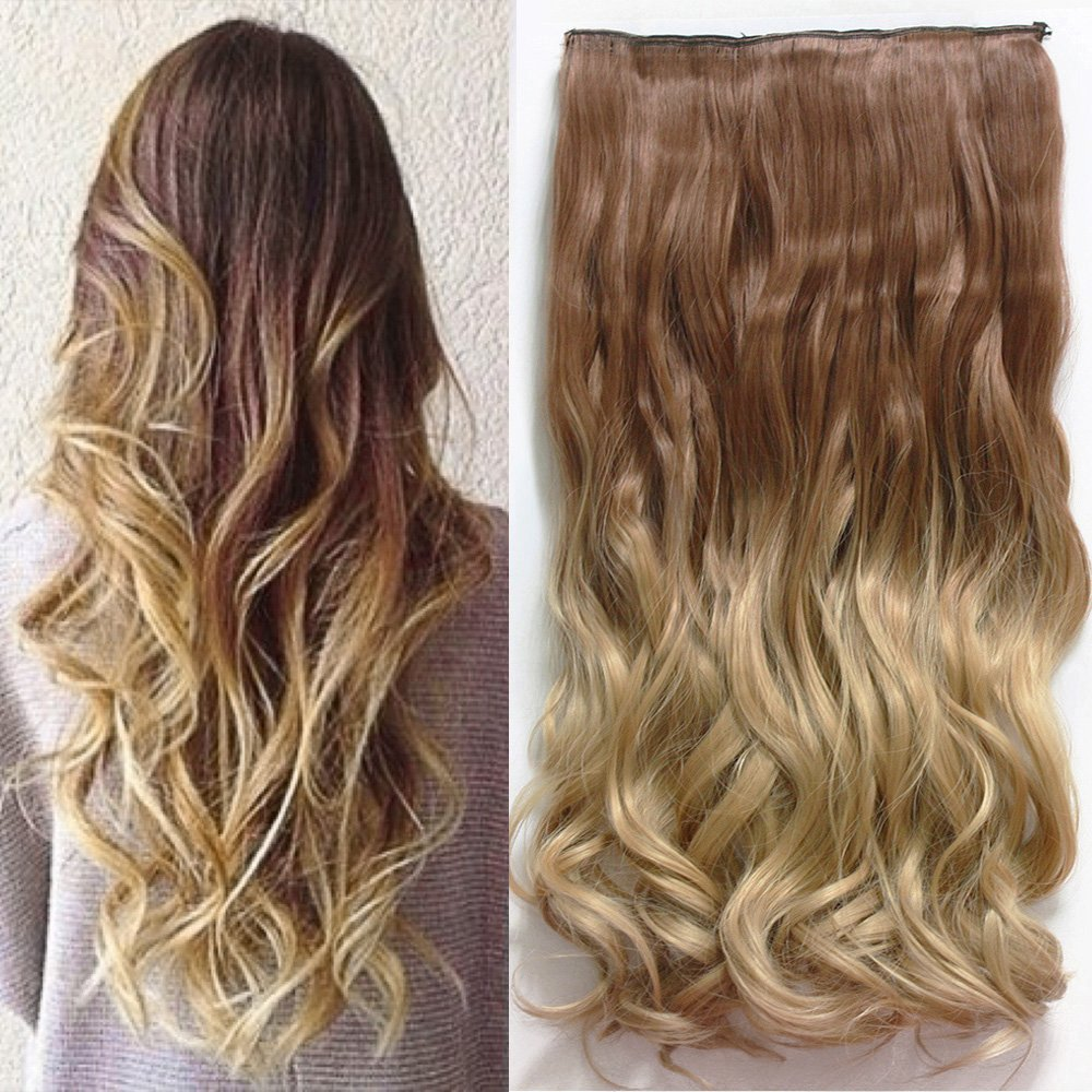 Amazon Com 20 Inches Full Head Ombre Dip Dyed Loose
