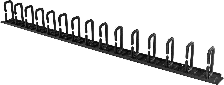 StarTech.com Vertical 0U Server Rack Cable Management w/D-Ring Hooks - 20U Network Rack Cord Manager Panel - 3ft Wire Organizer (CMVER20UD)