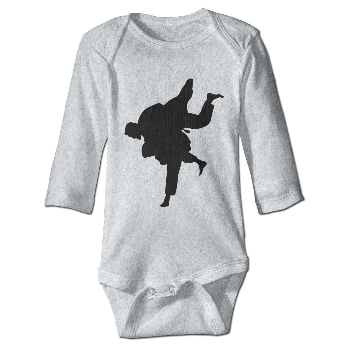 Infant Babys Long Sleeve Jumpsuit Romper Jiu Jitsu Silhouette-1 Unisex Button Playsuit Outfit Clothes