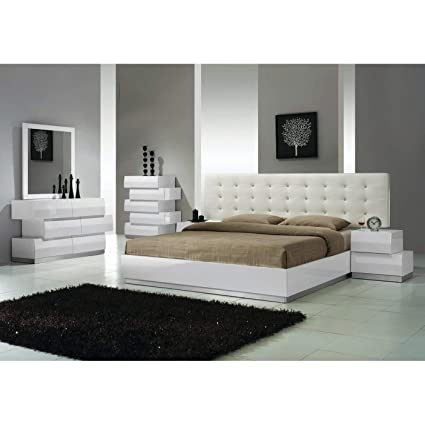 Amazon.com: Best Master Furniture Spain 5 Pieces Bedroom Set Eastern ...