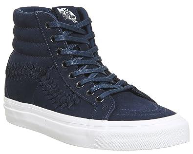 90873f64512808 Image Unavailable. Image not available for. Color  Vans SK8 Hi Weave DX Mens  8 Suede Dress Blues Fashion Sneaker