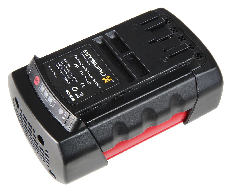 Mitsuru GBA 36V 3,0Ersatz Akku für Bosch Garten GBA 36V 3,0Ah h-b Professional/GBA 36V 3,0Ah H-Professional Series