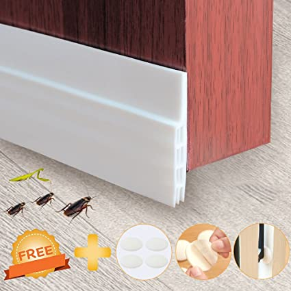 AODOOR Door Bottom Seal, Door Strip Sound Proof Door Draft Stopper Weather  Stripping + 4