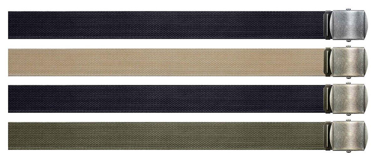 Rothco Vintage Web Belt w/ Roller Buckle 4470BLACK W/BLACK rco-4470_BLACK W/BLACK