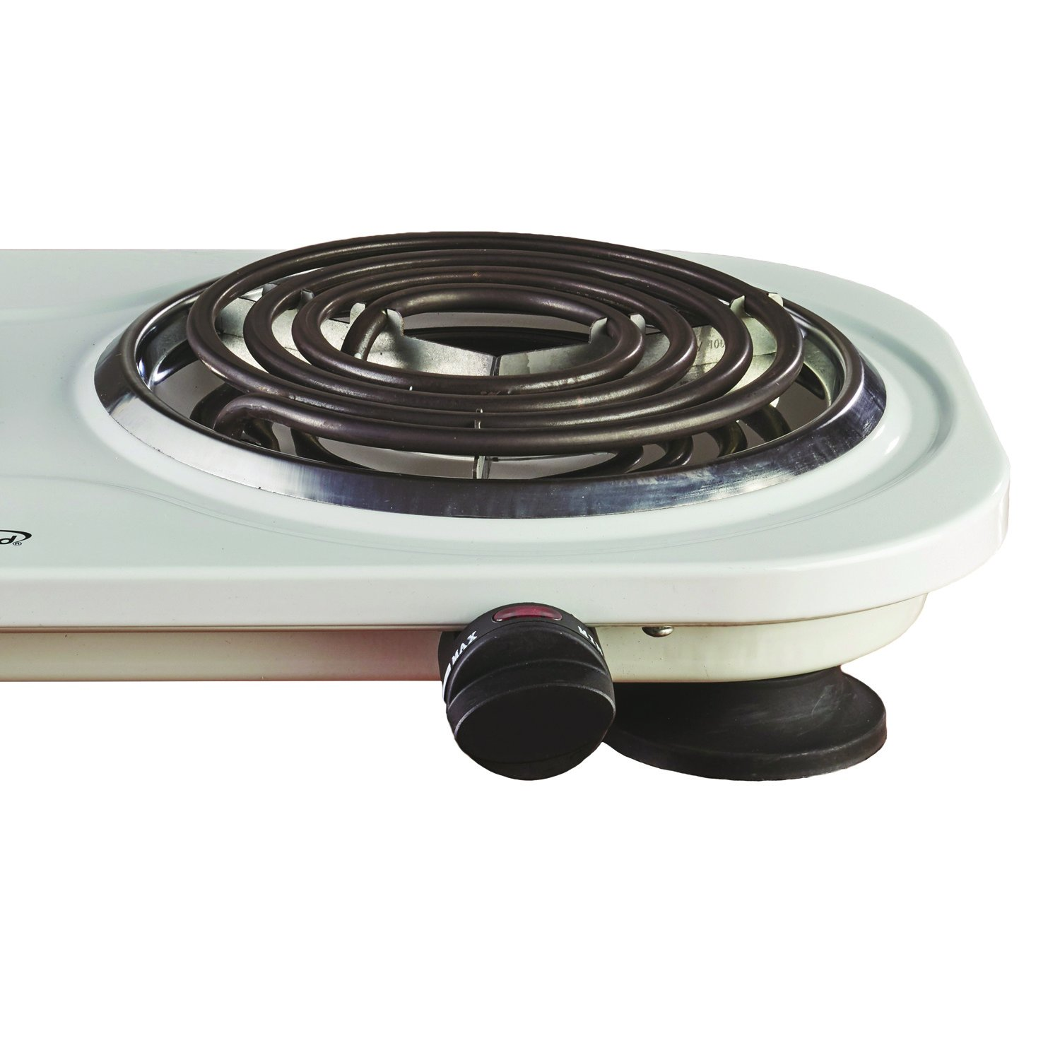 Brentwood TS-321W 1000w Single Electric Burner, White by Brentwood (Image #5)