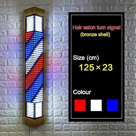 WUAZ Bronce Barber Pole Light, LED Retro Barber Pole ...