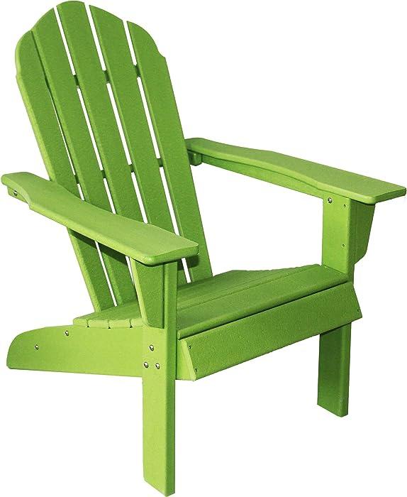 ResinTEAK HDPE Poly Lumber Adirondack Chair, Apple Green | Adult-Size, Weather Resistant for Patio Deck Garden, Backyard & Lawn Furniture | Easy Maintenance & Classic Adirondack Chair Design…
