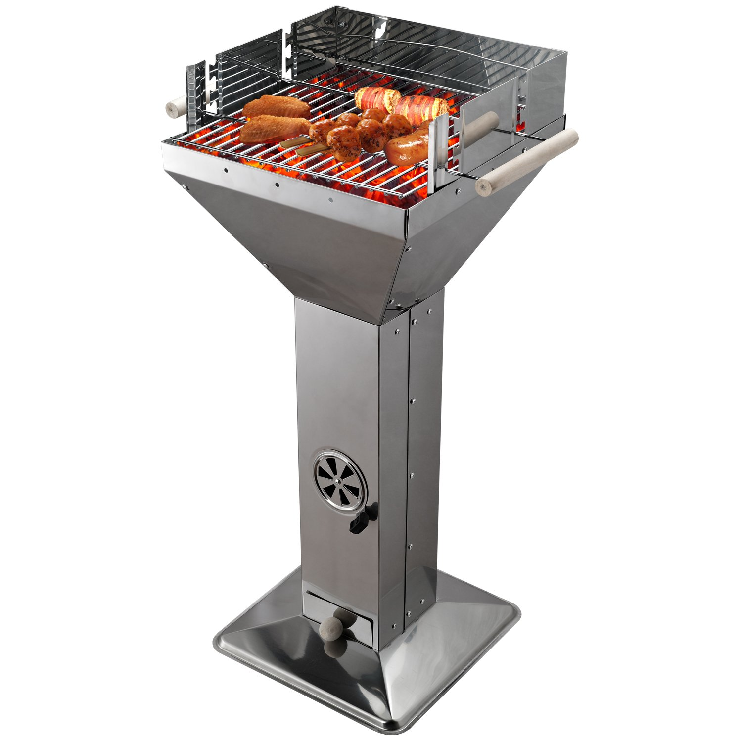gas stainless veloclub co patio patrofi grill pedestal steel