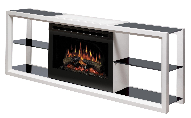 Dimplex Novara Media Console with 25 Inch Electric Firebox, White, SAPHL-300-W by Dimplex