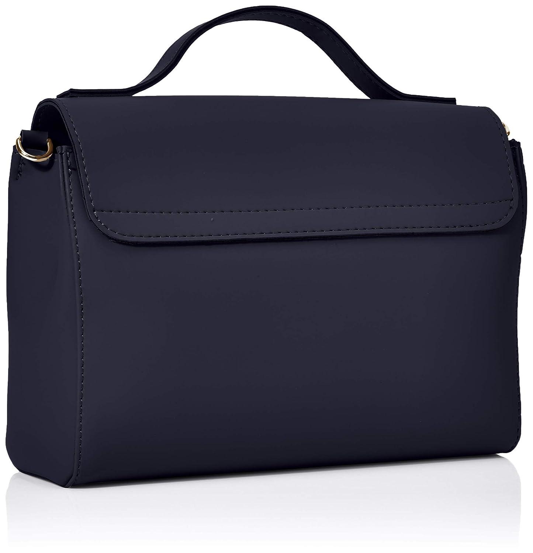 O väska dam Borsa mjuk smidig koppling, 27 x 25 x 9 centimeter Blue (Blu Navy)