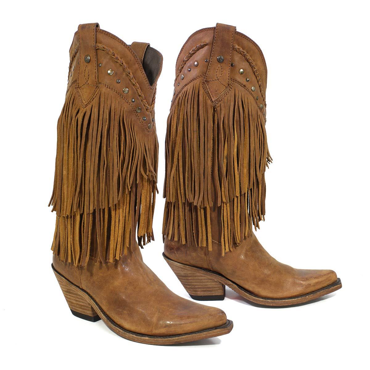 f614a30700b LIBERTY BLACK Women's Vegas Fringe Boot Pointed Toe