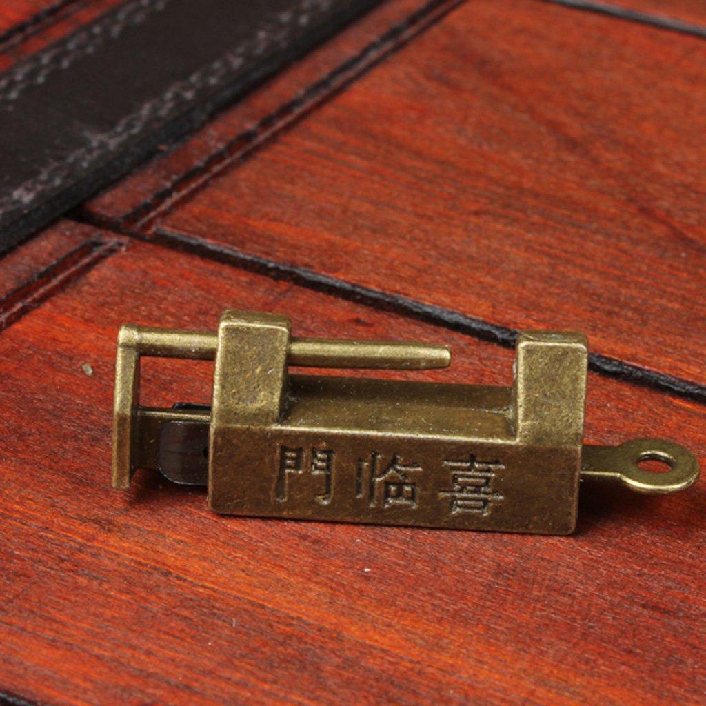 Retr/ò Cinese Vecchio Stile Di Blocco Lucchetto Bronzee Serrature Antichi Depoca