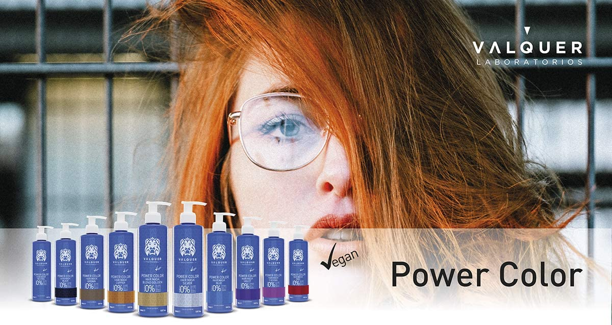 Válquer Professional Mascarilla Power Color cabellos teñidos. Vegano y sin sulfatos (Violeta). Potenciador color pelo- 275 ml