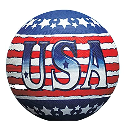 Rhode Island Novelty USA Theme Patotic Red, White & Blue Regulation Size Basketball: Toys & Games