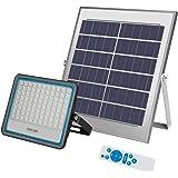 Foco Solar LED 100W,Luz Solar Exterior IP67 Impermeable Luz Blanco-Neutro 6500K ,Iluminación Solar 10000 LM Lámpara…