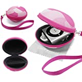 LOVE MY CASE / PINK CAMOUFLAGE / CAMO Fabric MP3 Player Case, cover, shell - Clamshell Style with Zip Enclosure, designed Inner Pocket, Durable Exterior Apple iPod Shuffle 2nd / 3rd / 4th Generation with Love my Case Cleaning cloth