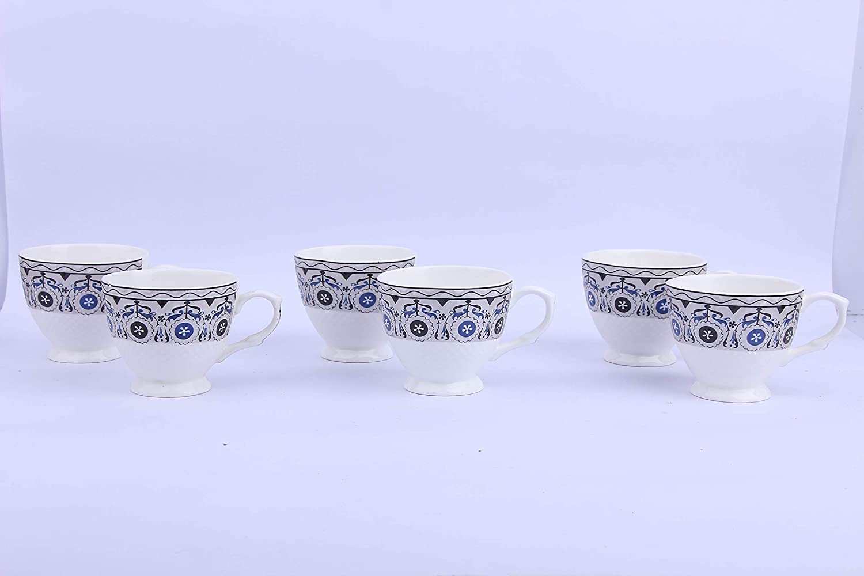 Anwaliya Floral Tea Cups - 6 Pieces