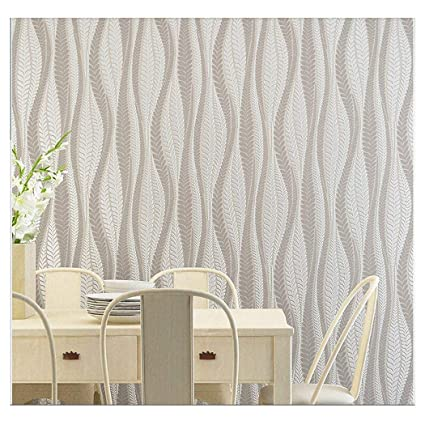 Blooming Wall Extra Thick Modern Non Woven Leaf Flows Pattern Wallpaper Wall Paper Roll For Livingroom Bedroom 39063