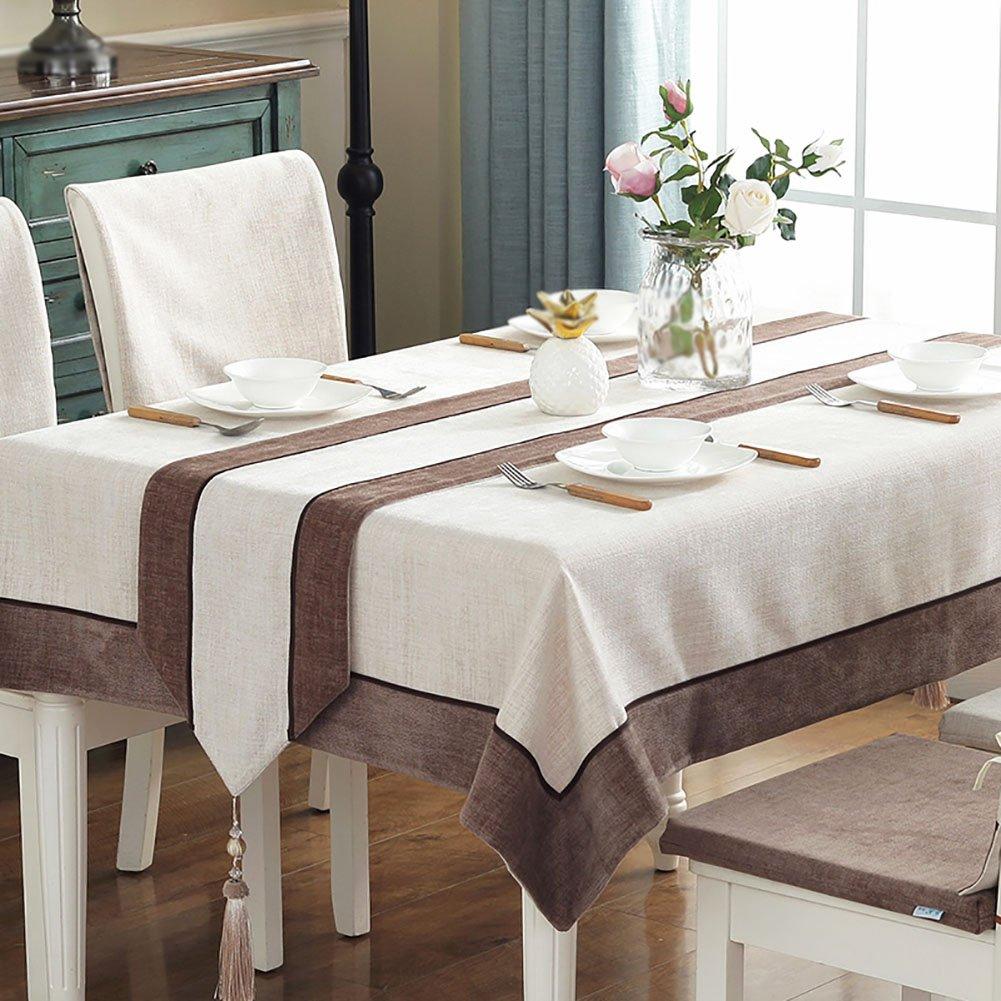 Mesa Runner Pure Color Mantel de té Mantel de algodón tapete de Mesa Bed Runner Cama Final de Toalla (Color : StyleA, Tamaño : 30 * 220cm)