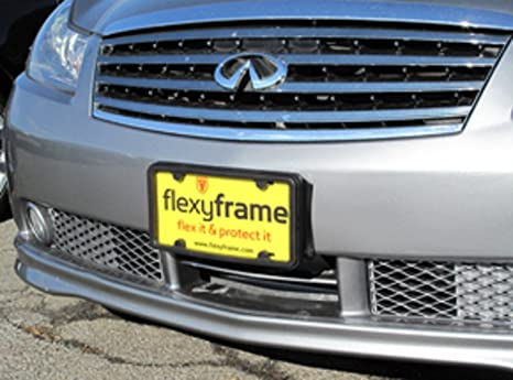 Flexyframe A NASA-like Rubber Front License Plate Bracket Frame Tag Holder Guard Bumper for : rubber trade plate holders - pezcame.com