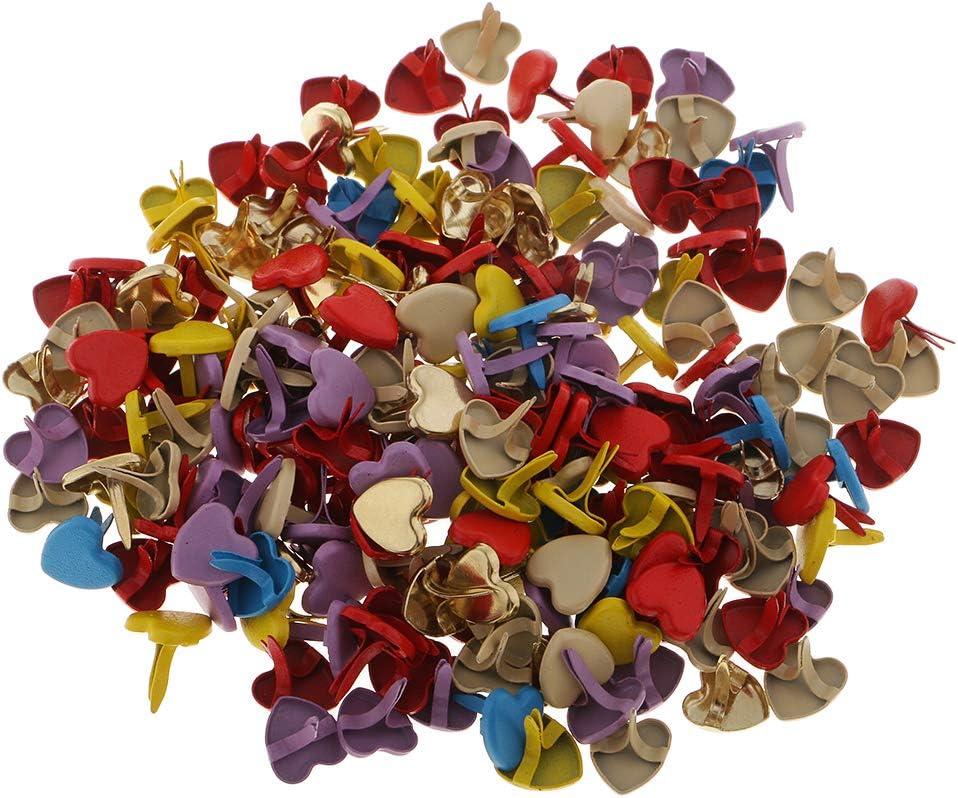 Lot de 200 attaches parisiennes color/ées en laiton plaqu/é pour scrapbooking loisirs cr/éatifs fabrication de cartes en papier