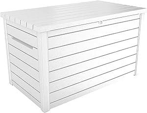 Keter XXL 230 Gallon Deck Storage Box Outdoor Patio Container ~ White